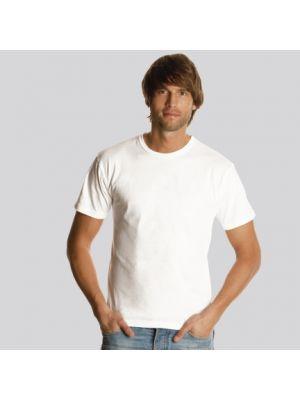 Camisetas manga corta keya mc130w de 100% algodón con logo vista 1