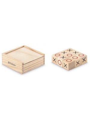 Aniversarios tic tac toe juego tres en raya de madera de madera para personalizar vista 1