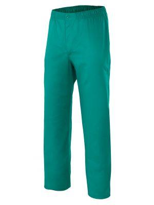 Pantalones sanitarios velilla pijama con cremallera y botón de algodon para personalizar vista 1