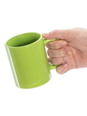 Taza clásica zifor de cerámica con publicidad vista 2