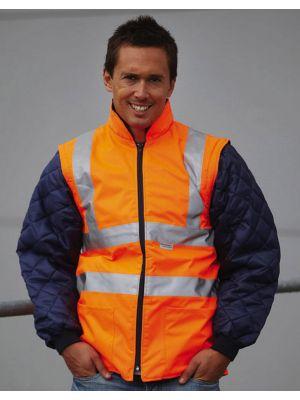 Chaquetas y cazadoras de trabajo yoko chaqueta acolchada con mangas extraíbles fluo para personalizar vista 1