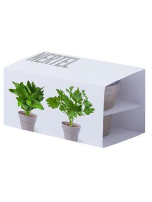 Regalos ecológicos set macetas nertel de biodegradable ecológico con publicidad vista 1