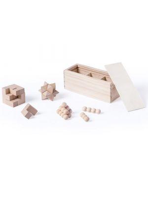Barajas y juegos de mesa set juegos habilidad genium de madera con logo vista 1