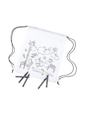 Mochilas infantiles wizzy no tejido con logo vista 1