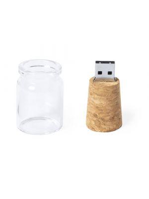 Usb personalizados domar 16gb de corcho ecológico con impresión vista 2