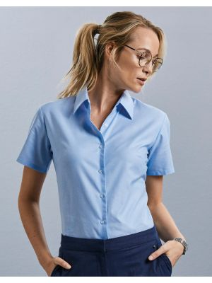 Camisas manga corta russell blusa oxford mujer vista 4
