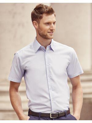 Camisas manga corta russell oxford manga corta hombre con logo vista 2