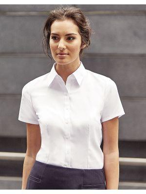 Camisas manga corta russell en espiguilla manga corta mujer vista 1