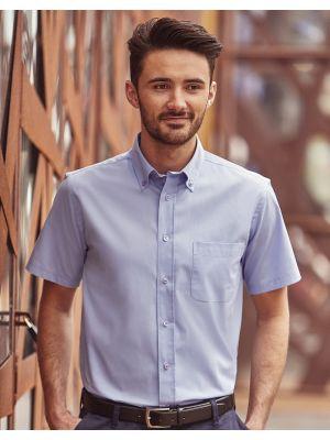 Camisas manga corta russell clásica sarga manga corta con publicidad vista 2