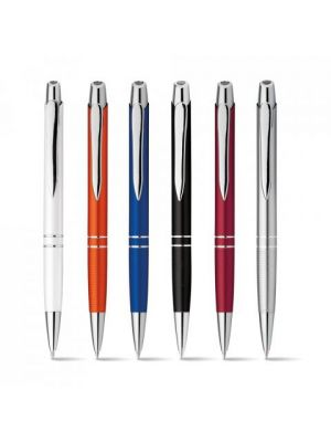 Bolígrafos personalizados marieta de metal con impresión vista 3