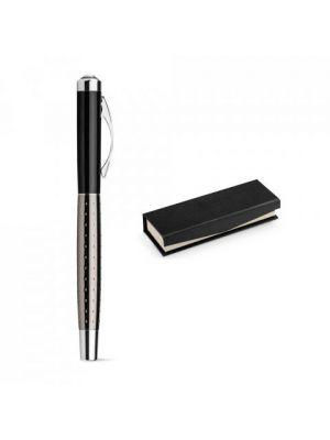Bolígrafos roller uwe de metal con publicidad vista 2