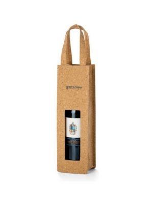 Accesorios vino borba. bolsa para 1 botella de corcho ecológico con logo vista 1