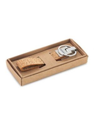 Llaveros personalizados corks de corcho ecológico con logo vista 1