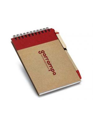Cuadernos con anillas ringord de cartón ecológico con logo vista 1