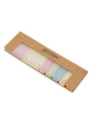Notas adhesivas james de cartón con logo vista 1