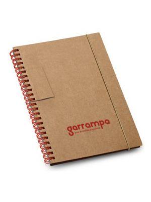 Cuadernos con anillas garden de cartón ecológico con logo vista 1