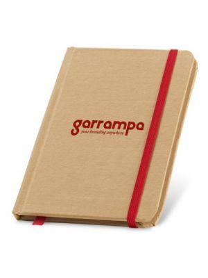 Libretas con banda elastica flaubert de cartón ecológico con impresión vista 1
