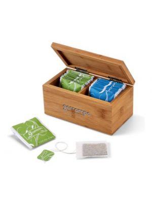 Decoración burdock. caja de infusiones de bambú ecológico vista 1