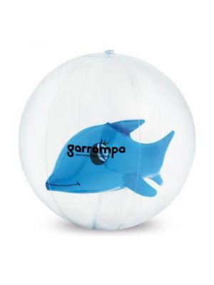 Balones de playa karon de plástico con publicidad vista 1