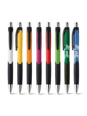 Bolígrafos básicos caribe de plástico con logo vista 1