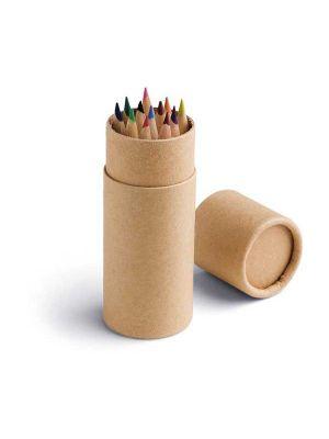 Pinturas colorear cylinder de cartón para personalizar vista 1