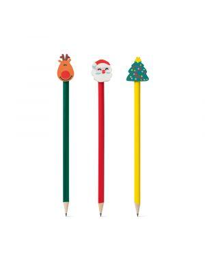 Navidad humboldt. lápiz de navidad con publicidad vista 1