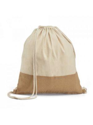 Mochila cuerdas personalizada sablon de 100% algodón ecológico para personalizar vista 1