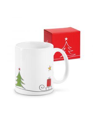 Navidad ancelle. taza de cerámica vista 3