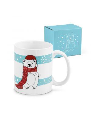 Navidad wescott. taza de cerámica con logo vista 3