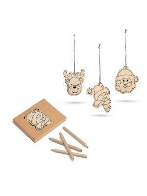 Navidad windham. set para colorear de madera con impresión vista 2