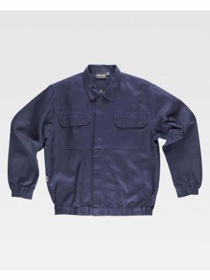 Chaquetas y cazadoras de trabajo workteam cazadora cuello camisero cremallera metal y velcro de 100% algodón vista 1