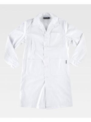 Batas sanitarias workteam b6111 de 100% algodón vista 2
