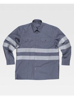Camisas reflectantes workteam ml de poliéster para personalizar vista 1