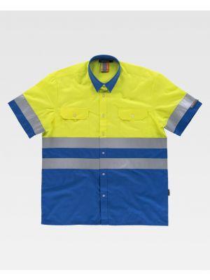 Camisas reflectantes workteam mc de poliéster para personalizar vista 1