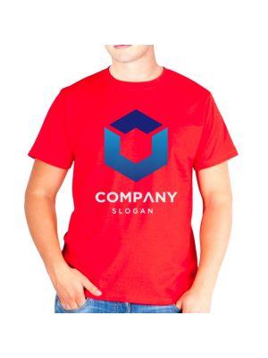 Camisetas manga corta keya mc130 de 100% algodón con impresión vista 1
