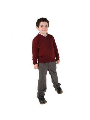 Pantalones roly largo colegial de poliéster con impresión vista 1