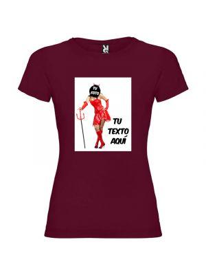 Camisetas despedida mujer de despedida para mujer estampación de diablesa 100% algodón vista 1