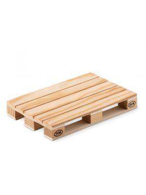 Posavasos paly de madera con impresión vista 1
