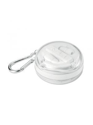 Auriculares botón combinados de plástico con publicidad vista 1
