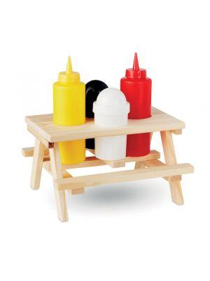 Utensilios de cocina picsaus mini mesa madera de varios materiales vista 1
