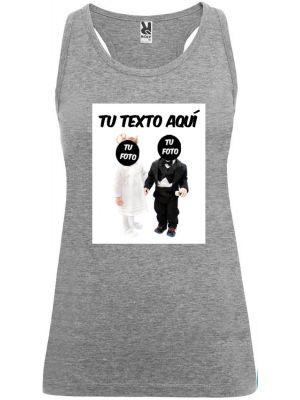 Camisetas despedida mujer de tirantes de despedida novios bebés 100% algodón para personalizar vista 1