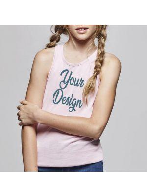 Camisetas tirantes roly brenda mujer niño de 100% algodón con logo vista 1