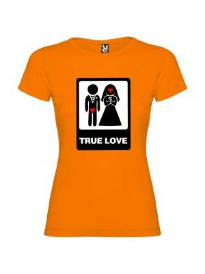 Camisetas despedida mujer para mujer con diseño true love especial 100% algodón con impresión vista 1
