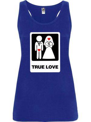 Camisetas despedida mujer de tirantes de despedida true love 100% algodón para personalizar vista 1