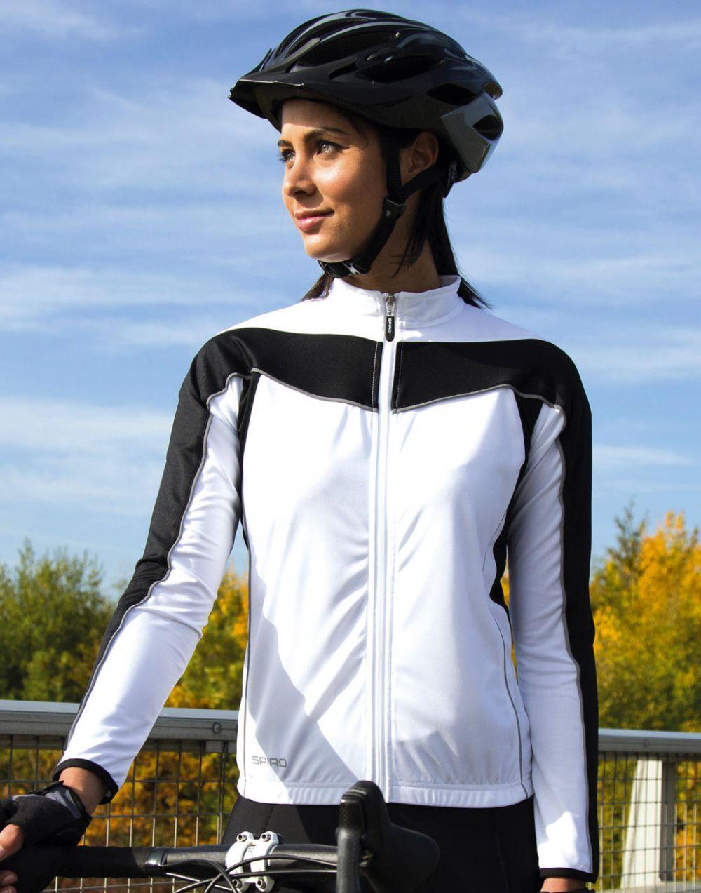 Equipaciones deportivas result top ciclismo manga larga mujer con publicidad vista 3