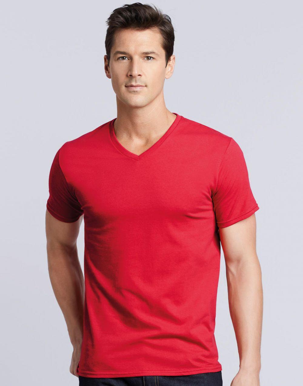Camisetas manga corta gildan premium cuello v vista 1