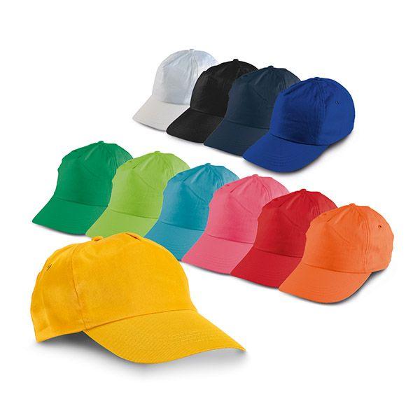 Gorras serigrafiadas campbel de poliéster con impresión vista 1