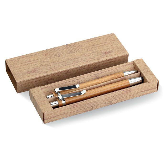 Set escritura bambooset de bambú ecológico vista 1